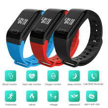 2019 Fitness Watches Blood Pressure IP67 Waterproof Smart Watch Health Smart Wristband Top Smart Bracelet Watch Men Silicone(China)