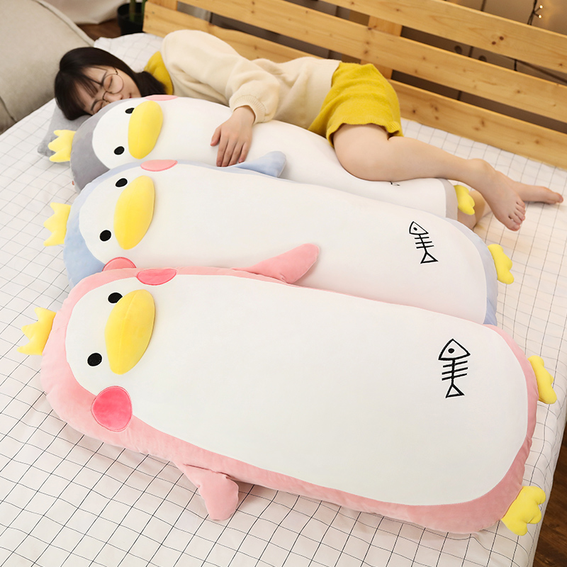 50/70cm Giant Cute Penguin Stuffed Soft Sleep Pillow Baby  Appease Cartoon Penguin Plush Pillow Christmas Gift For Girls Baby