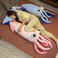 Muñeco de peluche de calamar con ojos grandes para niños, juguete creativo de felpa de calamar con ojos grandes, cojín para sofá, regalo de Navidad para niñas, decoración del hogar