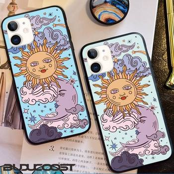 Funny Sun Moon Face Shockproof Phone Case for iphone 11 Pro 11 Pro Max X XS XR XS MAX 8plus 7 6splus 5s se 7plus SE 2020 case image