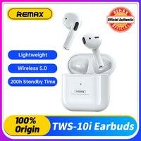Remax-auriculares Tws inalámbricos por Bluetooth 10i, cascos de música con sonido estéreo 3D para teléfono inteligente, con micrófono y carga Bo