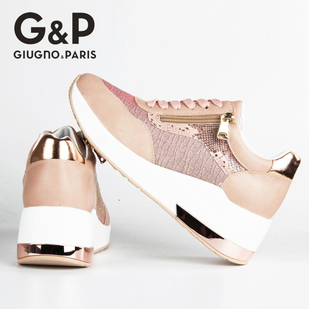 Brand Sneakers Women Breathable Shoes New Design 2020 Casual Platform Wedge Fashion Sneaker With Zipper Easy to Wear 2