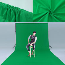 3*5M Green Screen Photography Backdrop Polyester Cotton Textile Muslin Solid Color Photo Background Thicken Backdrops Cloth(China)