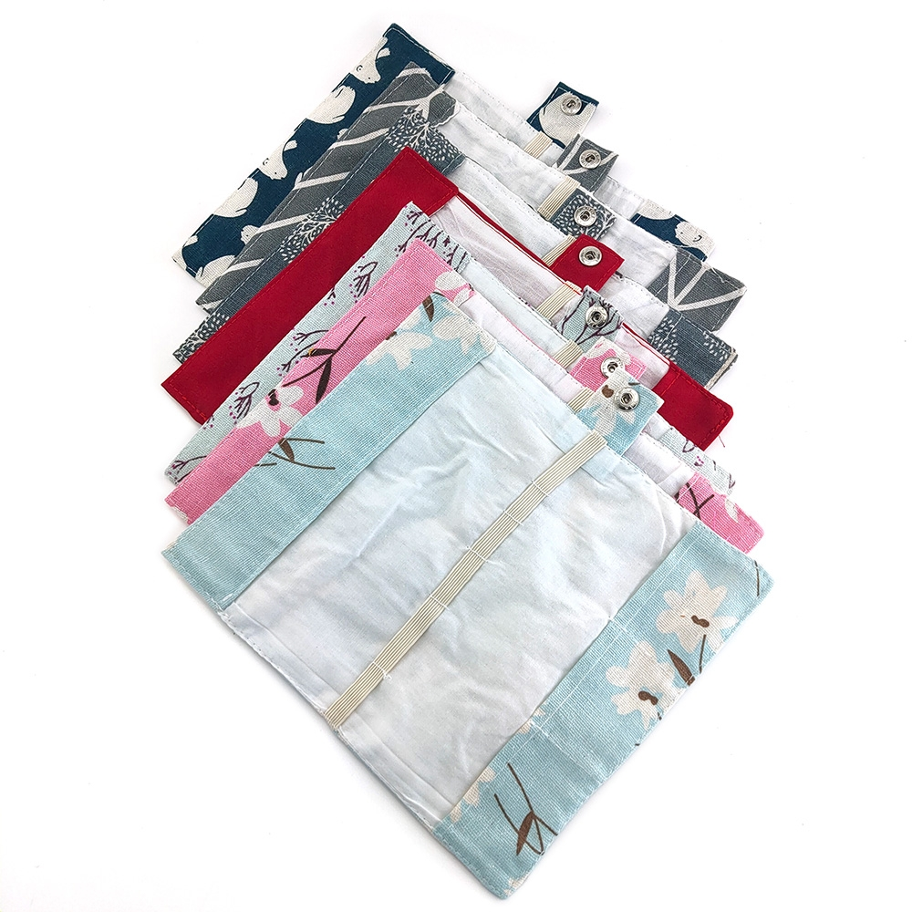 1pcs/3pcs Bamboo Cutlery Set  Bag Utensils Portable Flatware Knife-Fork Travel Toothbrush Cloth Bag