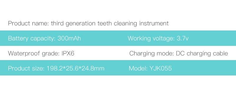 ipx6 à prova dwaterproof água removedor cálculo