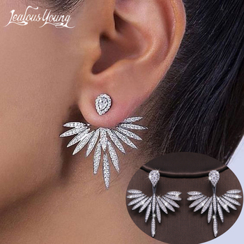 Luxury Trendy Marquise Flower  Pave Crystal Drop Earring  1