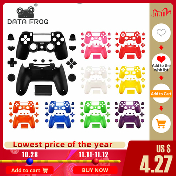 Data Frog Replacement Full shell and buttons mod kit for PS4 Slim Gamepad Protection Case For jds 040 PS4 Slim Pro Housing Cover