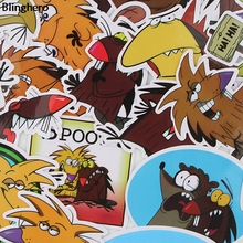Blinghero The Angry Beaver Stickers 20Pcs/set  Funny Animal Skateboard Laptop Car Refrigerator Decals BH0084
