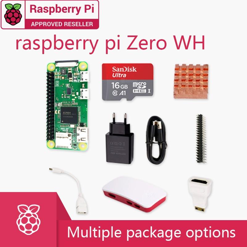Raspberry Pi Zero WH DEV Kit, 1 ГГц, одноядерный процессор, 512 МБ ОЗУ, 2,4 ГГц, Wi-Fi, Bluetooth 4,1 комплект включает чехол, кабель MINI HDMI uUSB