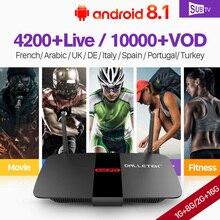 France IPTV Box Android 8.1 R1 Set top Arabic French Subscription SUBTV 1 year Belgium Portugal Italia