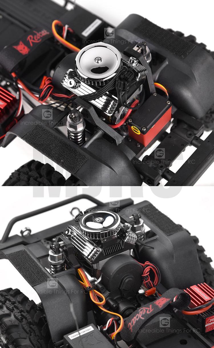 Simulate V8 Engine Motor F82 Motor Cooling Fan for 1:10 RC TRX4 SCX10 II GEN8