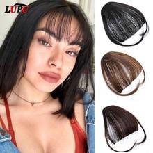 LUPU Synthetic Short Fringe Blunt Fake Bangs Heat Resistant Hairpiece C