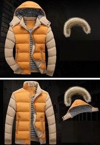 Image 2 - 2020 브랜드 뉴 겨울 자 켓 남자 따뜻한 자 켓 9 색 패션 브랜드 모피 후드 모자 남자 Outwear 코트 캐주얼 두꺼운 망 4XL