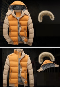 Image 2 - 2020 Brand New Winter Jacket Men Warm Down Jacket 9 Color Fashion Brand With Fur Hood Hat Men Outwear Coat Casual Thick Mens 4XL