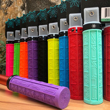 Bicycle Grips Ergonomic Silicone MTB Bike Grip 130mm Anti-slip Shock-absorbing Handlebar Grips with Lock Bmx Bike. Parts