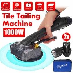1000W carrelage tuiles Machine tuiles vibrateur ventouse réglable portable automatique sol vibrateur outil de nivellement avec 2 batterie