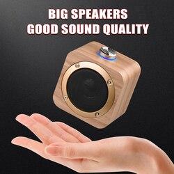 Деревянный Bluetooth-динамик SPASH Q1B, портативный беспроводной мини-сабвуфер, звуковая коробка для домашнего кинотеатра, креативный маленький зв...