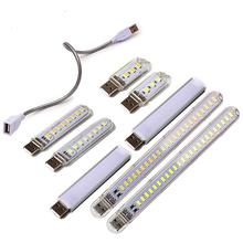 Portable USB 5V Desk Reading Light 3 8 12 24 LEDS SMD 5730 Mini Book Lights Table Night Lamp White amp Warm Color For Power Bank cheap YANKE CN(Origin) 2 years none LED Bulbs SMD 5730 USB Light 2W 4W 6W 12W Mini USB Night Light ROHS 15-65Celsius(288 15-338 15k)