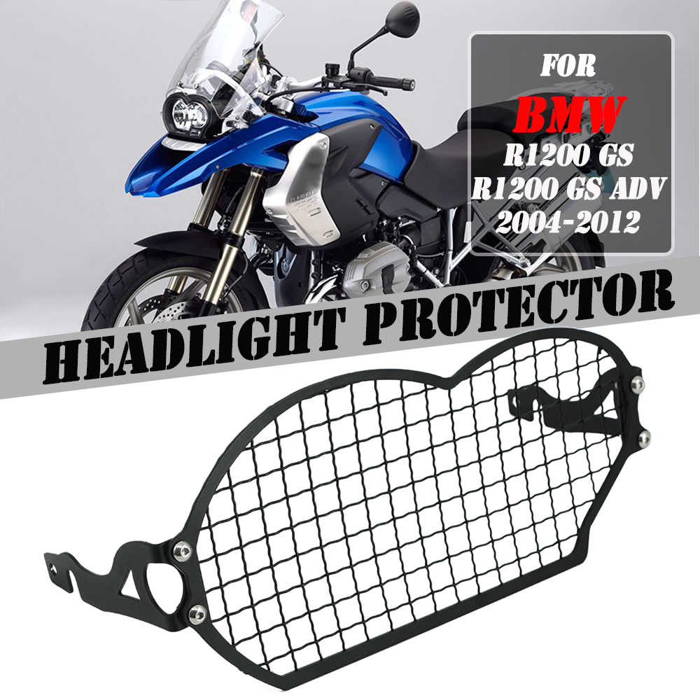 Headlight Grill Guard Protector Cover For BMW R1200GS 2004-2012 ADV 2005-2013