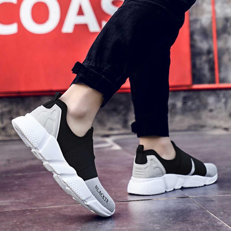 Minnaar Loopschoenen Eenvoudige Classic Slip-on Ademende Paar Sneakers Ultralight Flat Lace Up Vrouwen Mannen Schoeisel 2019