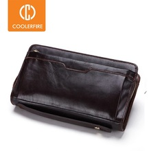 Men's Wallet Luxury Wristband Long-Money-Bag Genuine-Leather High-Quality for Male PJ006
