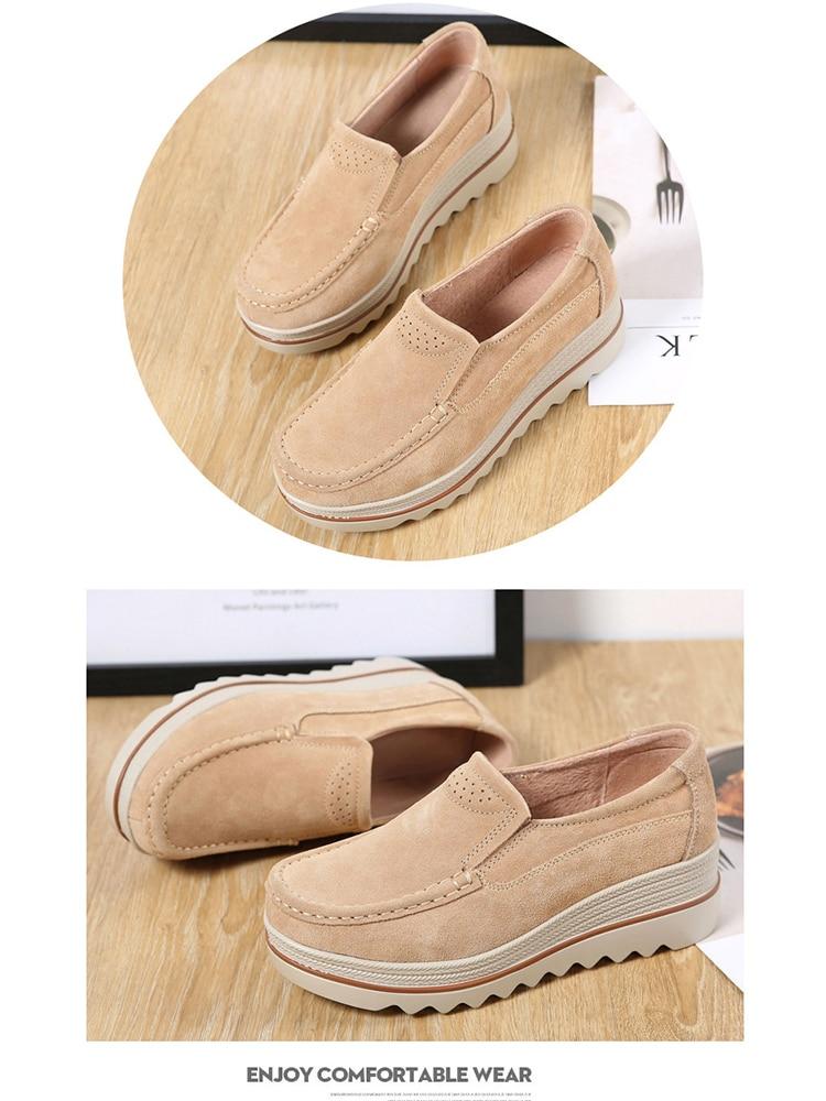 Women Flats Plus Size Increase Wedge Flat Shoes Women Fashion Moccasins Ladies Female Footwear Sneaker Zapatos De Mujer VT613 (6)