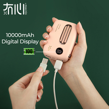 Maoxin mini power bank digital display power bank 10000mah power bank cute radio shape dual Input dual output external battery