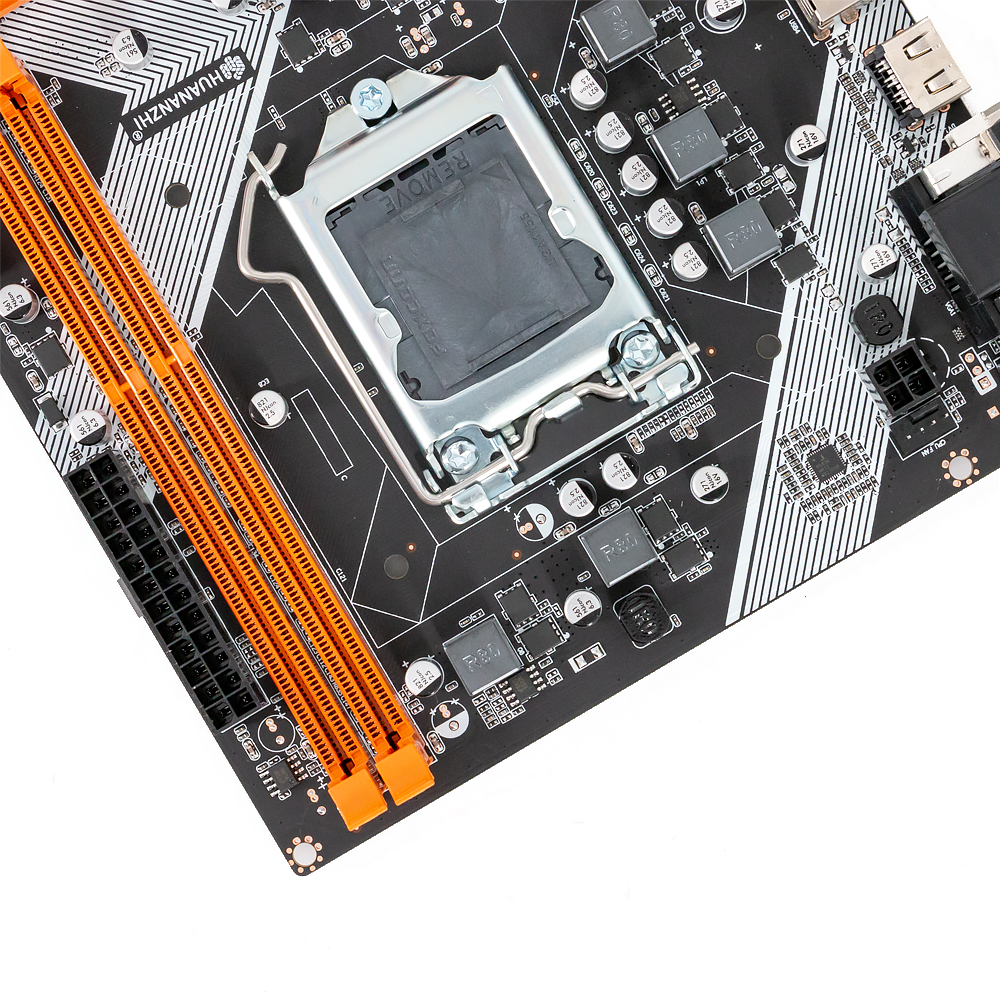 Image 4 - HUANAN ZHI B75 M ATX Motherboard B75 For Intel LGA 1155 i3 i5 i7 E3 DDR3 1333/1600MHz 16GB SATA3.0 USB3.0 PCI E VGA HDMI-in Motherboards from Computer & Office