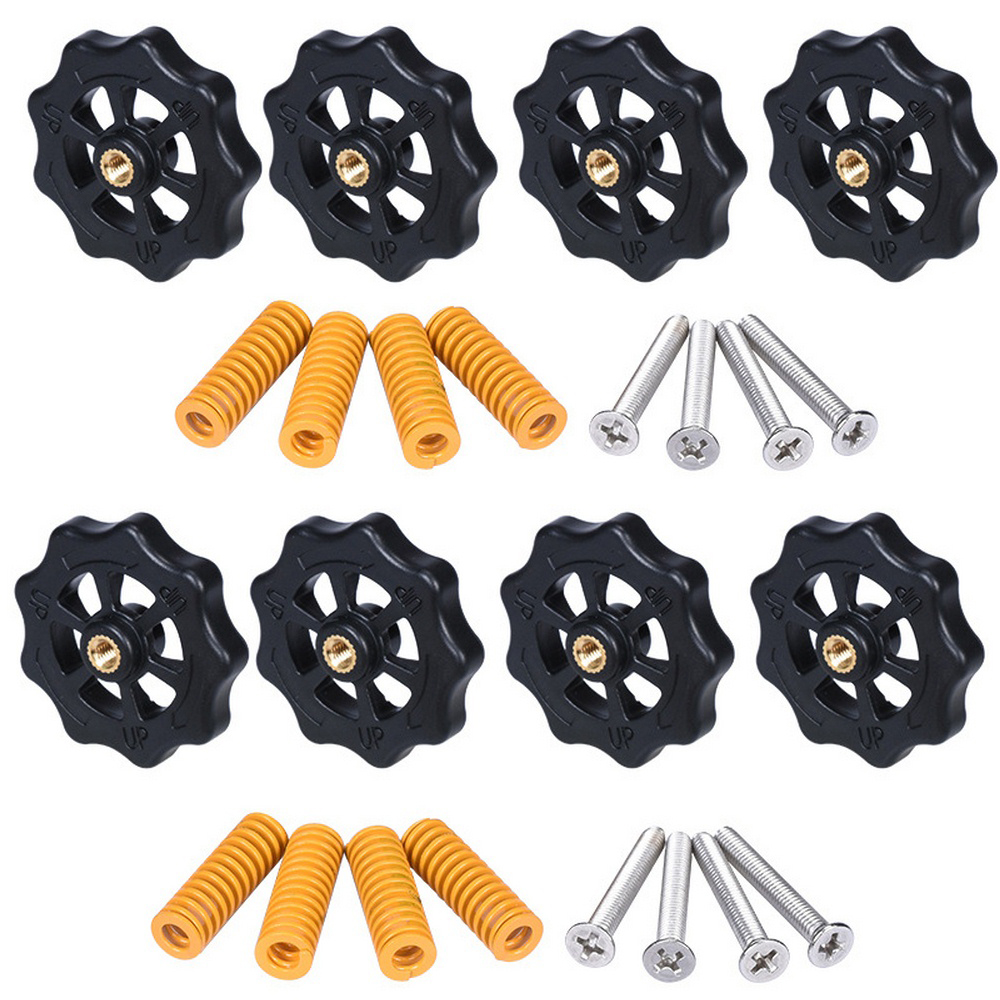 8PCS M4*40 Screws Nuts Heat Bed Leveling Spring Knob Parts 3D Printers Platform Screw Calibration Accessories 3D Printer Parts