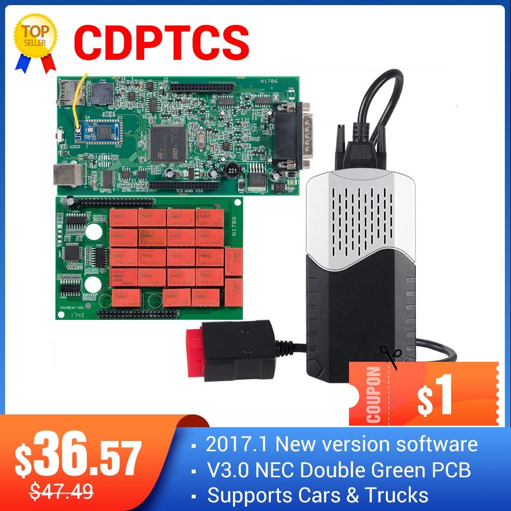 CDPTCS V3.0 NEC Реле Multidiag pro Bluetooth 2017 R3 без keygen obd2 сканер для автомобиля инструменты для грузового автомобиля kit для гаража Бесплатная доставка