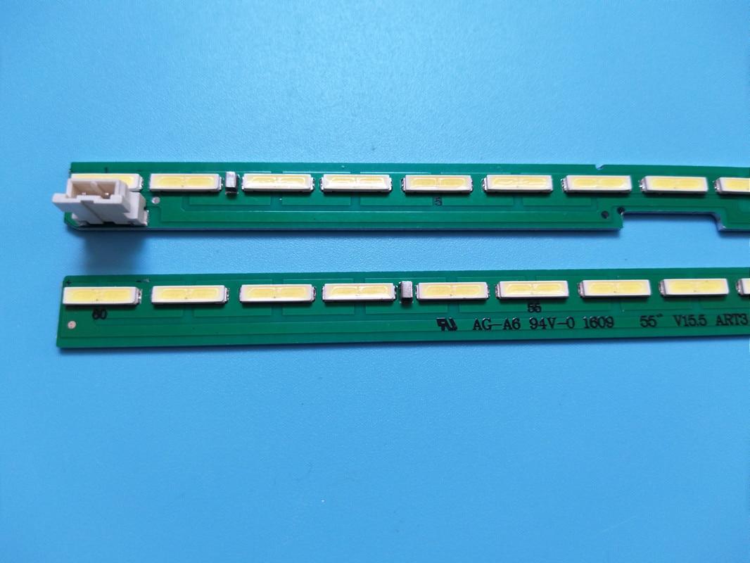 Novo conjunto 10 20 = 5pces 60led 602 milímetros tira conduzida luz de fundo led para lg 55uf6450 5uh6150 5uf6430 6916l2318a 6916l2319a 6922l-0159a lc55