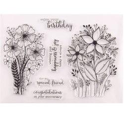 Geburtstag Großen Blumenstrauß Transparent Klare Stempel für DIY Scrapbooking/Karte, Der/Kinder Weihnachten Spaß Dekoration Liefert