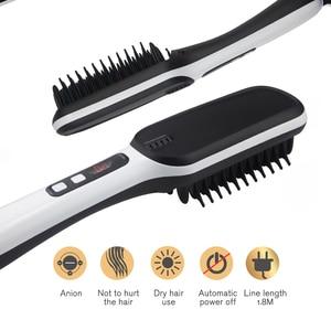 Image 1 - Prostownice do włosów profesjonalne szybkie napięcie uniwersalne ceramiczne elektryczne szczotka do prostowania włosów urządzenie do stylizacji prostownica do włosów ET 16