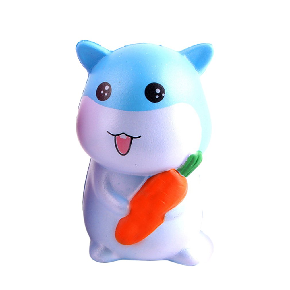 Cute Simulated Cartoon PU Hamster Pendant Doll Slow Rebound Decompression Toy Foam Relaxed Toy Decoration Cake Sample Model
