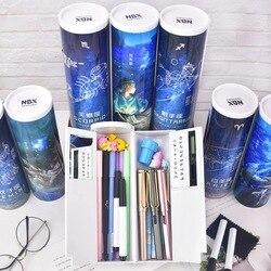 Constellation Pensil Newmebox Sekolah Kawaii Estuche Escolar Kreatif Kotak Pensil Nbx Lucu Pensil Kotak Pena Case