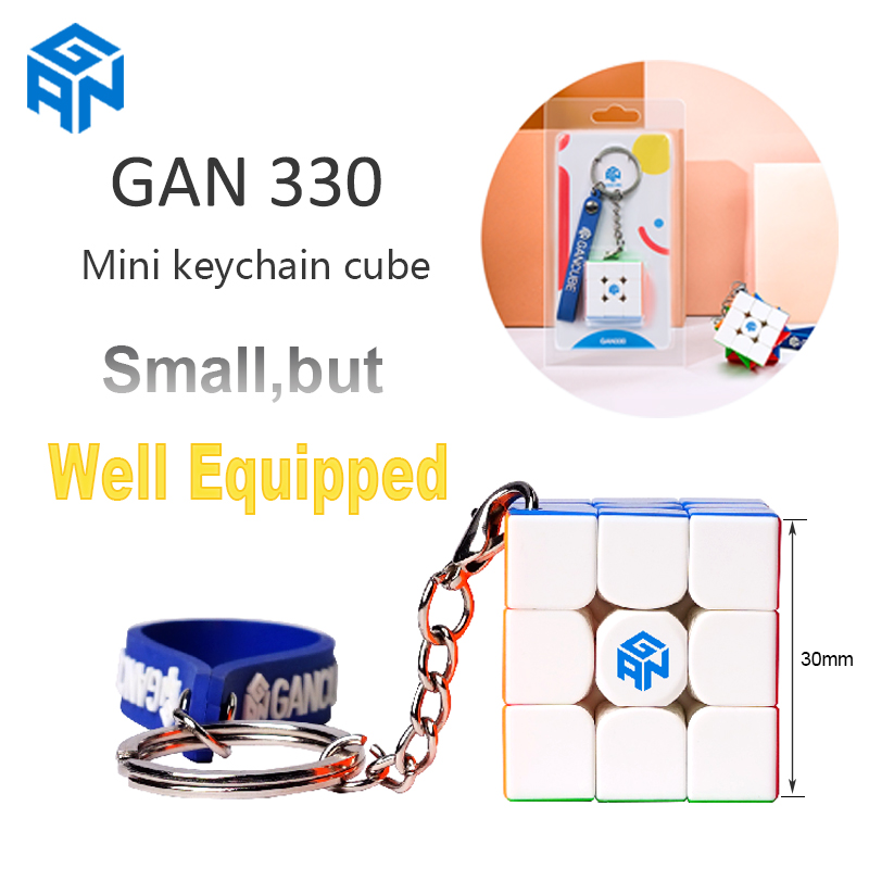 Original GAN330 Keychain Cube Gans 3x3 Mini 30mm Pocket Stickerless Speed Cube GAN 330 Puzzle Profissional Cube Educational Toy