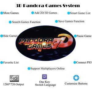 Новый Pandora box 3d WiFi 2448 4018 в 1 классическая домашняя консоль WiFi аркадная игра устройство двойной джойстик HDMI VGA интерфейс 160 3D