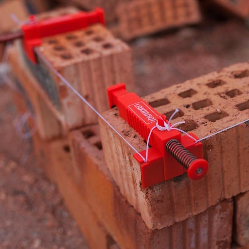 2 adet tuğla örme tel çekmece mühendislik yapı tuğla örme sabitleyici paslanmaz çelik plastik aracı Anti-skid Pad 9- 12cm