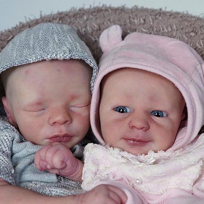 RBG 18 дюймов 46 см DIY пустой Reborn Baby Doll Запчасти ручной работы для осина и Лейф винил силиконовый Неокрашенный Незаконченный пустые куклы