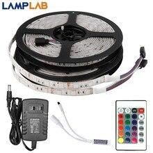 Светодиодный светильник 12 В постоянного тока, гибкая Диодная лента, RGB SMD 2835 5050, 44Key, пульт дистанционного управления, 5 м, 10 м, 15 м, полный комплект, водонепроницаемый светильник ing