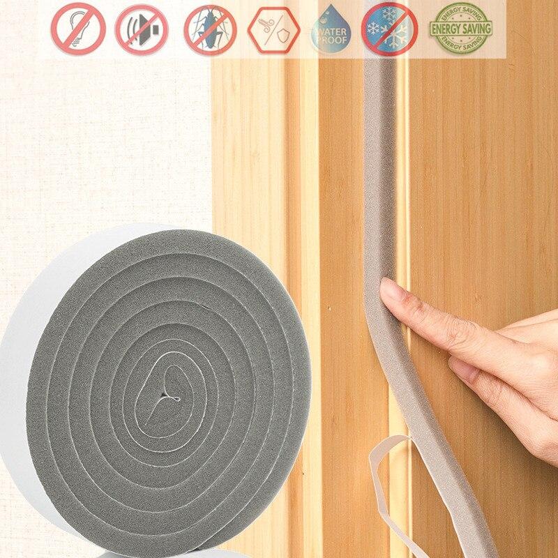 Have An Inquiring Mind 2m Self-adhesive Door Window Sealing Strip Soundproof Acoustic Foam Mousse Acoustique Burlete Puerta Casa Weather Stripping
