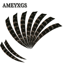 50/100Pcs Archery 5inch Arrow Feathers Snow spot Turkey Feather Vanes Right Wing DIY Tools Practice Hunting Shooting Accessories