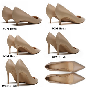 Image 5 - New Spring Party Wedding Woman High Heel Genuine Leather Pointed Toe Mature Office Lady Elegant Shoes Women Pumps Big Size A003