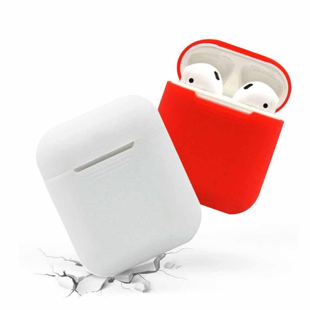 Ốp Silicon Mềm Tai Nghe Rung Không Dây Bluetooth Tai Nghe Chụp Tai Bảo Vệ Da Hộp Nắp Cho Không Khí Vỏ Tai Vỏ Túi