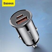 Baseus Автомобильное зарядное устройство , быстрая зарядка 30 Вт 4,0 3,0 USB зарядка для Iphone X XS Max SCP USB Type C PD 3,0, для телефона зарядка