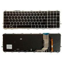 US Laptop keyboards for HP envy 15 J 15T J 15Z J 15 J000 15t j000 15z j000 15 j151sr English silver frame with Backlit keyboard