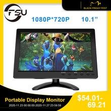 """FSU Portatile di Visualizzazione del Monitor 1024*600 Monitor LCD Full View HDMI VGA AV Industriale Capacitivo 10.1 """"della Parte Posteriore Dellautomobile view Monitor"""