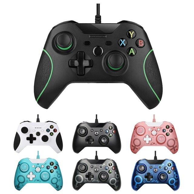 USB Wired בקר Controle עבור Microsoft Xbox אחת בקר Gamepad עבור Xbox אחת Slim PC Windows Mando עבור Xbox אחד ג ויסטיק