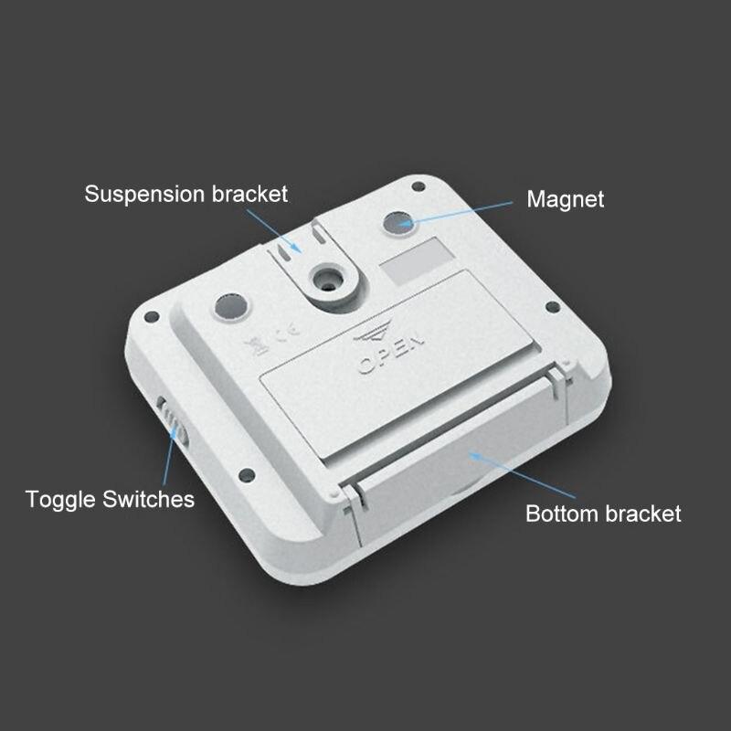 eletrônico digital portátil 2 grupo contagem regressiva despertador lembrete 0.01s
