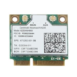 Dwuzakresowy 300 mb/s 6235ANHMW Mini PCI-E Laptop bezprzewodowa karta WiFi dla Intel centrino advanced-N 6235 Bluetooth 4.0 karta sieciowa